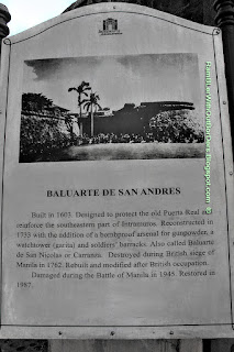 Sign, Baluarte de San Andres, Intramuros, Manila, Philippines