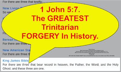 1 John 5:7. The GREATEST Trinitarian FORGERY In History.