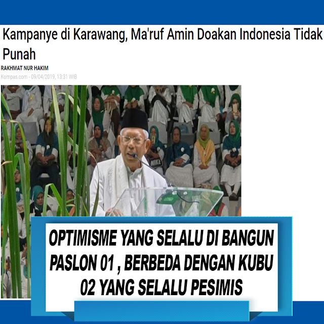 Kampanye di Karawang, Ma'ruf Amin Doakan Indonesia Tidak Punah
