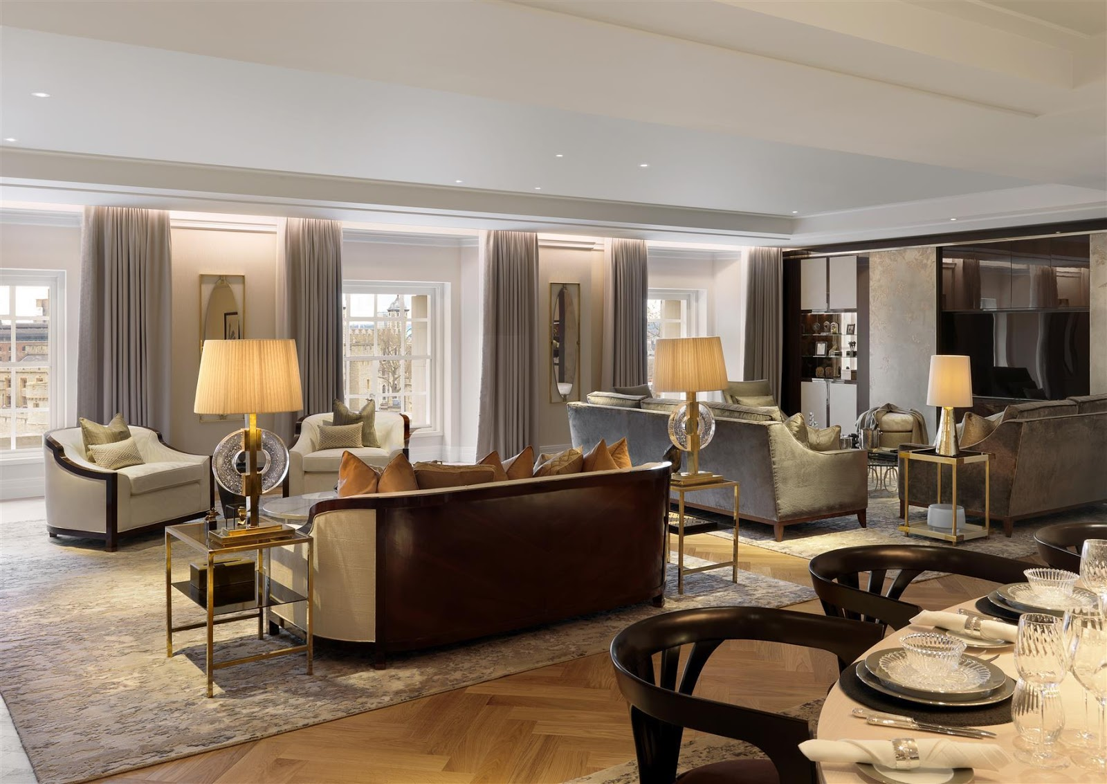 Lxury interior Four Seasons London Ten Trinity Square