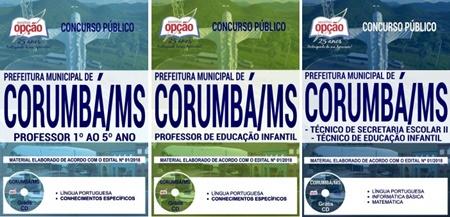Apostila Concurso Prefeitura de Corumbá MS 2018