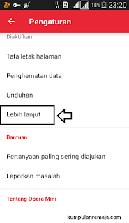 Setting Opera mini Telkomsel