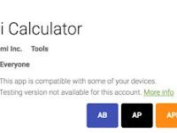 Aplikasi Kalkulator Ringan By Xiaomi