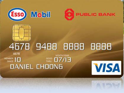 Mobil 1 Rebate >> Credit Cards in Malaysia: Public Bank Esso Mobil Gold Credit Card
