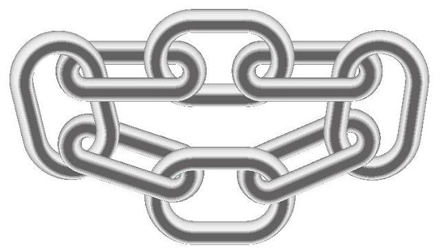 鎖のイラスト。