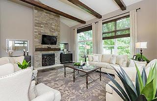 interior decor in new construction home