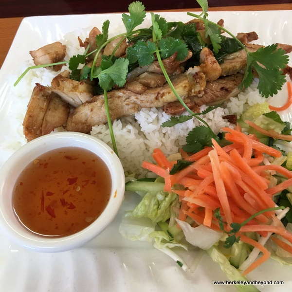 chicken and rice plate at Super Super in Berkeley, California