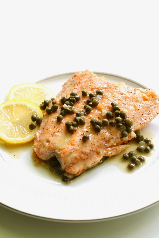 Crispy Skin Salmon Piccata from The Two Bite Club