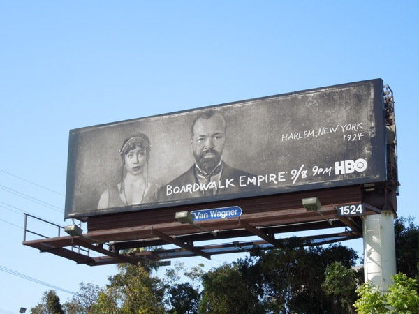Boardwalk Empire season 4 Harlem, New York 1924 billboard