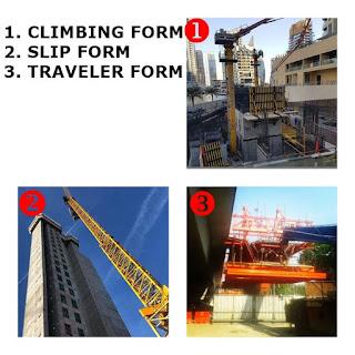 Climbing Formwork, Slip Form, Auto Jump Form, Traveler Form