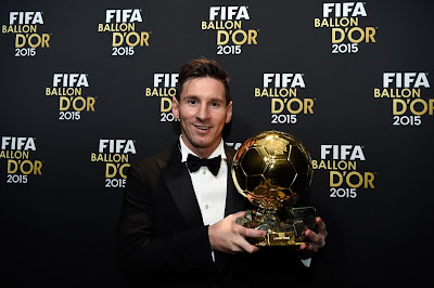 1a - Lionel Messi wins Ballon d'Or for fifth time - more pictures