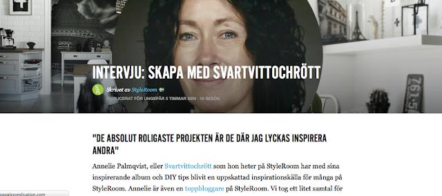 styleroom, inredning, diy, pyssel, intervju, annelie palmqvist, svartvittoch rott, svart vitt och rött, blogg
