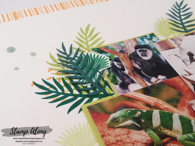 Stampin'Up! Tropical Chic scrapbookpagina