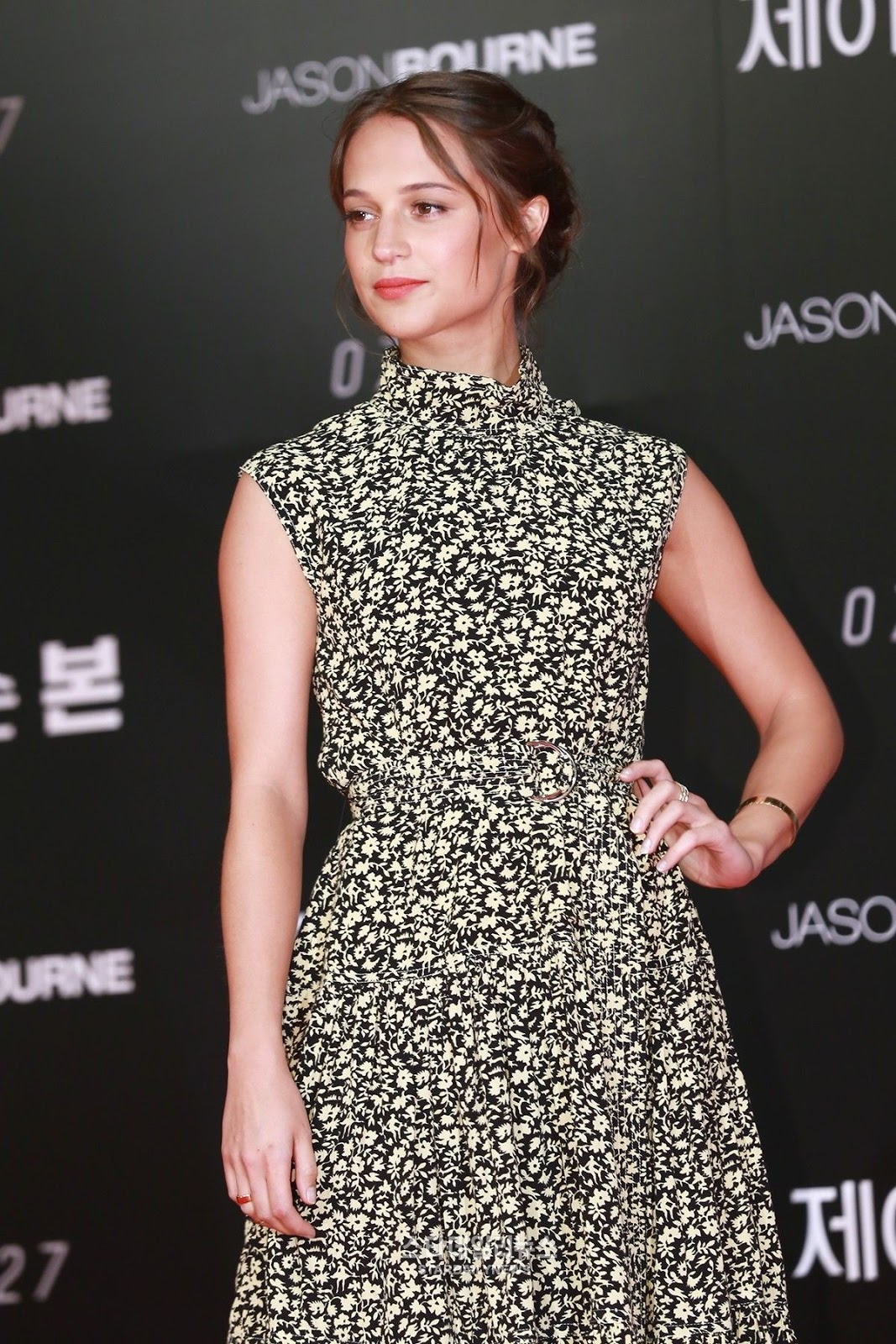 HQ Photos of Alicia Vikander At Jason Bourne Photocall In Seoul