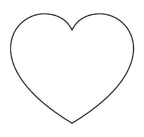 Hình tô màu trái tim cho bé hai tuổi