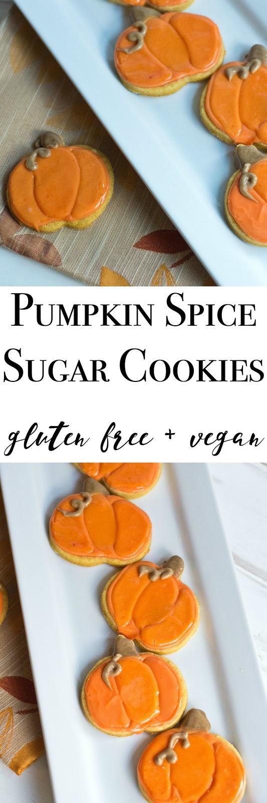 Making it Milk-free: Pumpkin Spice Sugar Cookies {gluten free + vegan}