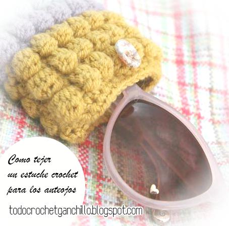 Tutorial de tejido crochet de estuche anteojos para el dia de la madre