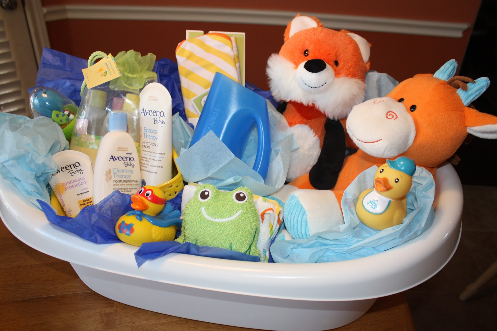 Baby Bath Tub Wrapping Ideas