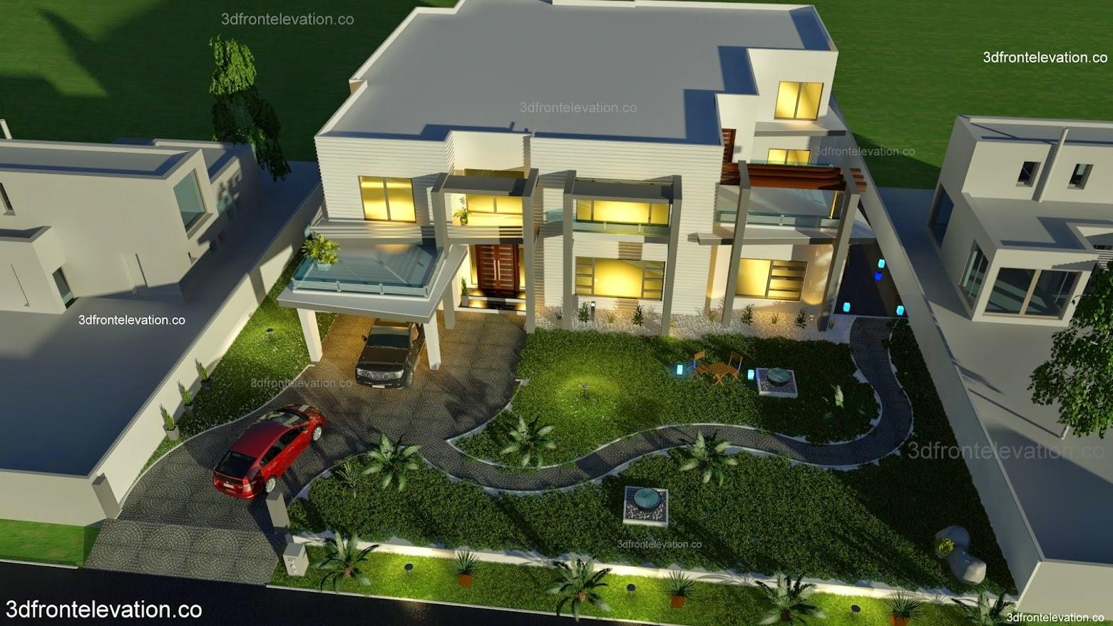 Architectural Design Houses Karachi Modern 3d Front Elevationcom Pakistan Small