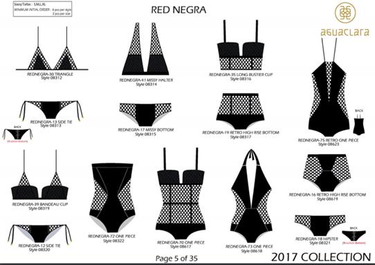 Aguaclara 2017 Swimwear