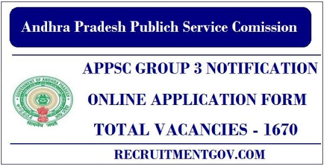 APPSC Group 3 Notification 2018 - APPSC Group 3 Application
