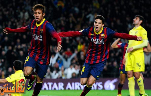 توقيت مباراة برشلونة وفياريال الاربعاء 4-3-2015