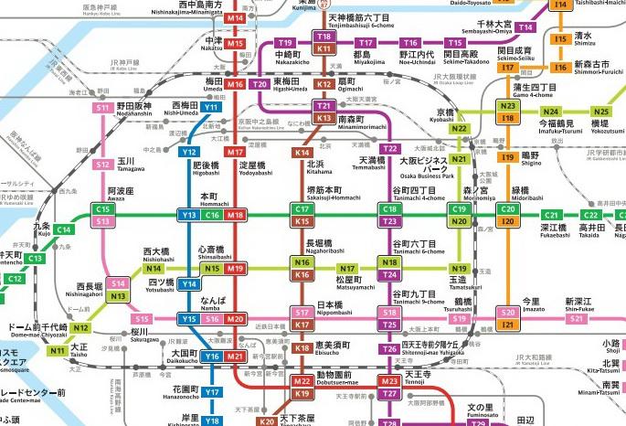 林公子生活遊記: [大阪京都地鐵路線圖] 出發前可以先上網查詢路線 SAVE入手機,就唔怕迷路啦! 交通 地鐵 巴士 ...