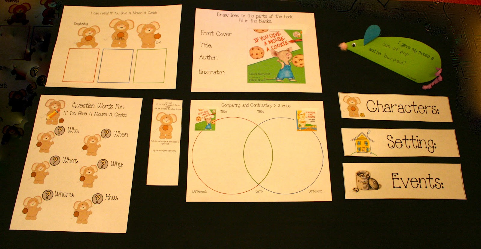 Classroom Freebies If You Give A Mouse A Cookie Packet