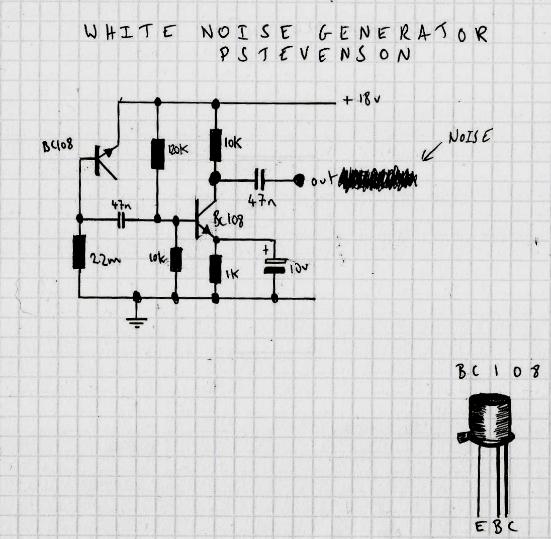 Noise Generator Schematic Sine Wave Oscillator Circuit Diagram Tradeoficcom The Best Voltage Ive Found To Use This At Is Volts However It Does Make
