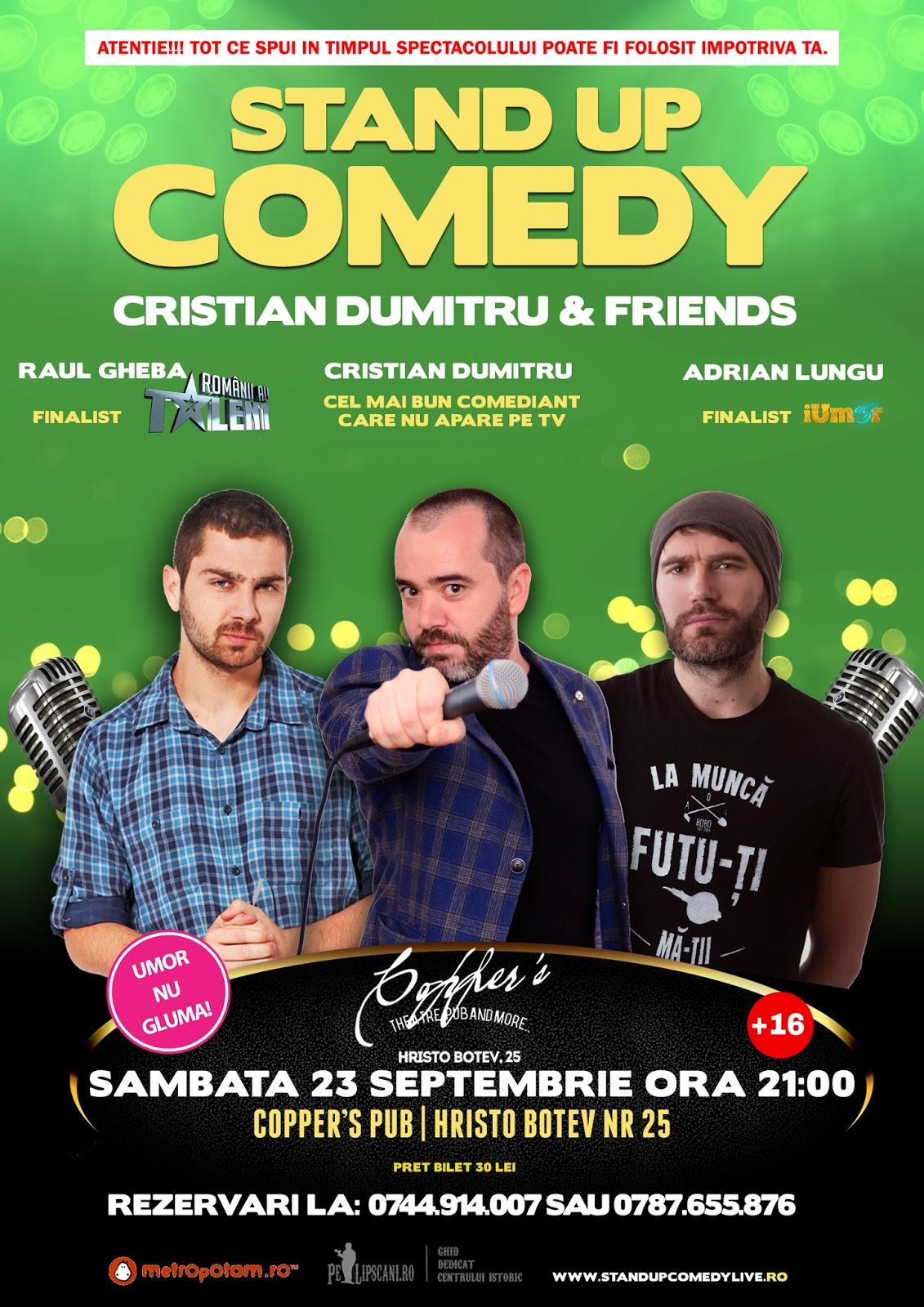 Stand-Up Comedy Bucuresti Sambata 23 Septembrie