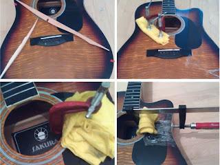 акустическая гитара ремонт деки