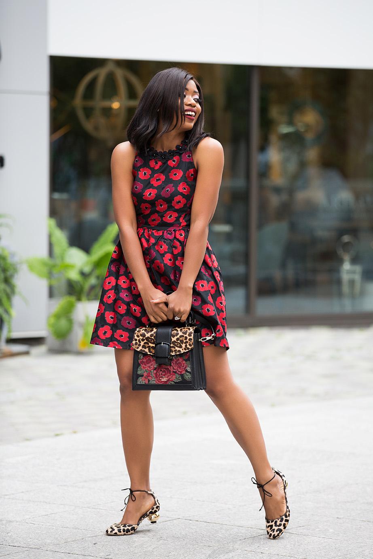 leopard shoes, kate spade dress, www.jadore-fashion.com