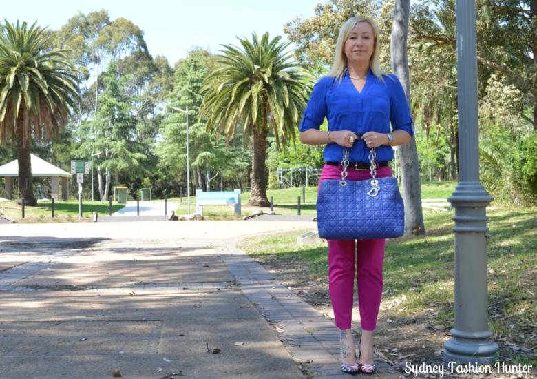 Sydney Fashion Hunter - Fresh Fashion Forum #3 - Be Bold - Hot Pink Pants + Cobalt Shirt