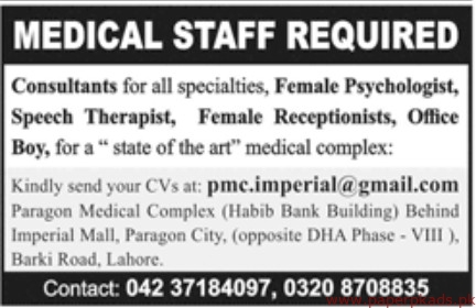 Medical Complex Jobs 2019 Latest