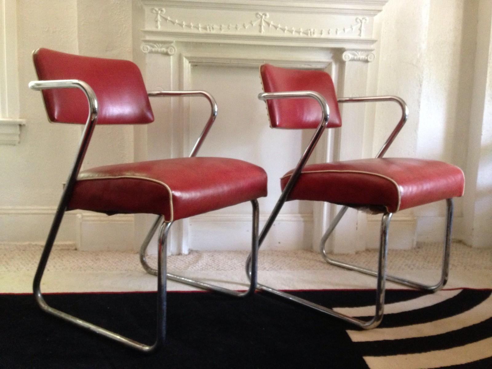 Vintage Art Deco Vinyl u0026 Chrome Chairs & Butcher Shop Rehab: Vintage Art Deco Vinyl u0026 Chrome Chairs