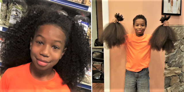 10-Year-Old Boy Grows Out Hair to Shoulder-Length to Donate to Cancer Patient