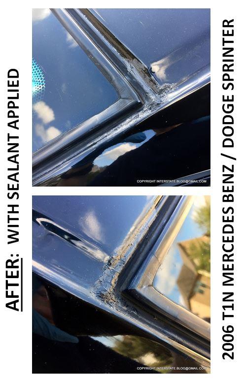 THE INTERSTATE BLOG: FIXING A WINDSHIELD CORNER LEAK IN A