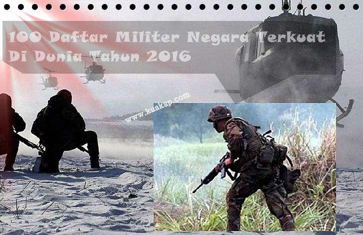 100 Daftar Negara Terkuat Di dunia Tahun 2015 - 2016 Terbaru TNI Peringkat Rangking 14