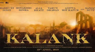 Kalank Hindi Movie Star casts, News, Wallpapers, Songs & Videos