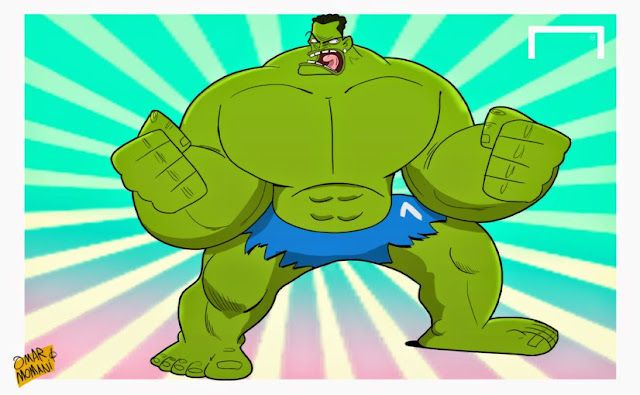 Hulk Brazilian footballer cartoon