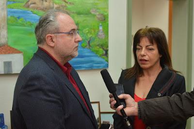 Συνάντηση Σπύρου Ριζόπουλου με τη δήμαρχο Σουλίου Σταυρούλα Μπραΐμη