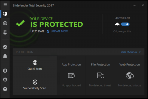 Bitdefender Total Security 2017 Full Version with Serial Key