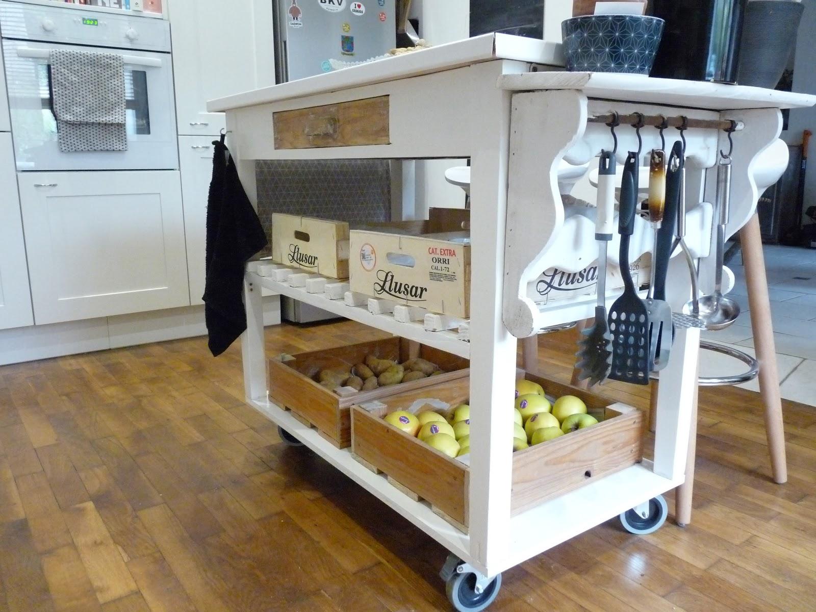 rue rivoirette diy fabriquer un il t une desserte de cuisine. Black Bedroom Furniture Sets. Home Design Ideas