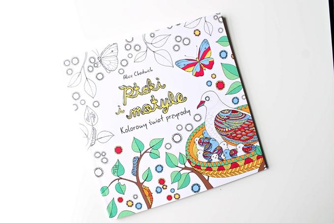 Ptaki i motyle, kolorowanka dla dorosłych, wydawnictwo Kaktus