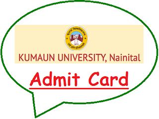 Kumaun University Admit Card 2021
