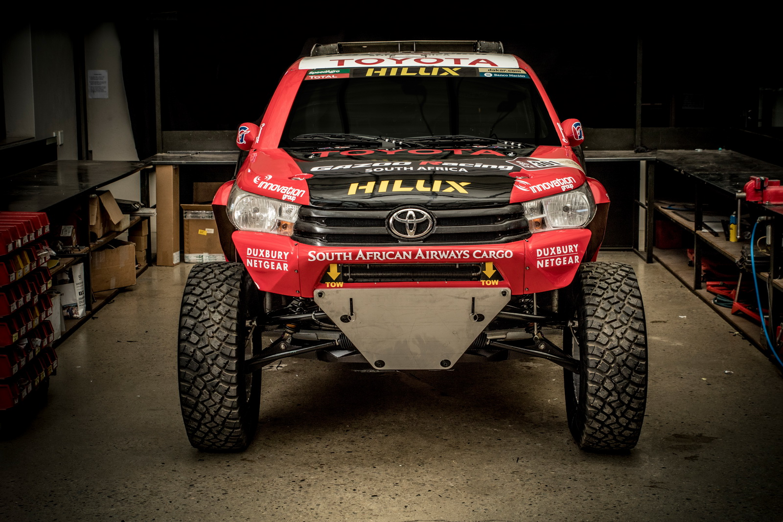 toyota ready to tackle 2017 dakar rally with new hilux evo carscoops. Black Bedroom Furniture Sets. Home Design Ideas