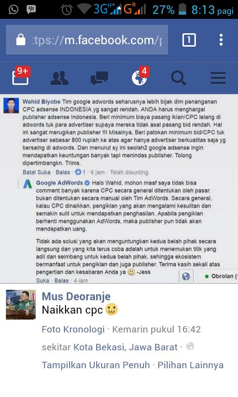 Kenapa CPC Adsense Indonesia ini Jawaban yang cukup adil