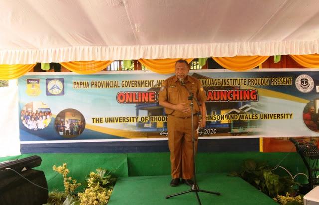 Pemprov dan Papua Language Institute Luncurkan Kampus Online Bersama 2 Universitas di AS