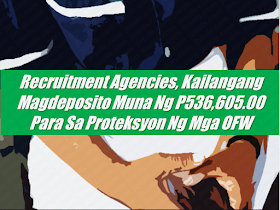 "Foreign recruitment agencies (FRA) who hire overseas Filipino workers (OFWs), household service workers (HSWs) in particular,  to be deployed in Kuwait will be required to pay an escrow deposit amounting to $10,000 (Php536,605.00) to ensure the protection of OFWs in the Gulf state.  The new rule, which is included in the guidelines released by the Philippine Overseas Employment Administration (POEA) on hiring and deployment of OFWs to Kuwait, requires foreign recruiters to pay an escrow deposit which would serve as a cash bond that will serve as a payment for OFWs in case their employers would refuse to pay for their service. Advertisement           Sponsored Links  Through this new rule, FRAs will be forced to monitor the status of OFWs.  ""They will be the ones who will ask [Kuwaiti] employers to pay the claims of their Filipino workers since it could be charged to them if the employers will not pay for it,"" POEA administrator Bernard Olalia said.  Olalia explained that the 2016 POEA rules state that the escrow deposit should be $50,000, however, it was reduced to $10,000.  ""Based from [2016] rules, the escrow deposit is US$50,000. We passed a GB (governing board resolution) pegging the escrow deposit to just US$10,000,"" Olalia said.  The POEA Welfare and Employment Office will monitor if Kuwaiti recruiters and employers follow the rules included in the guidelines and the signed Memorandum of Understanding (MOU) between the Philippines and Kuwait.  Meanwhile, Olalia added that local recruitment agencies will also be required to pay an escrow deposit separate from the FRA's.  The guidelines were released following the signing of the labor deal between the Philippines and Kuwait that seeks to protect the welfare of OFWs in the Gulf state. Foreign recruitment agencies (FRA) who hire overseas Filipino workers (OFWs), household service workers (HSWs) in particular,  to be deployed in Kuwait will be required to pay an escrow deposit amounting to $10,000 (Php534,205) to ensure the protection of OFWs in the Gulf state.  The new rule, which is included in the guidelines released by the Philippine Overseas Employment Administration (POEA) on hiring and deployment of OFWs to Kuwait, requires foreign recruiters to pay an escrow deposit which would serve as a cash bond that will serve as a payment for OFWs in case their employers would refuse to pay for their service. Advertisement         Sponsored Links  Through this new rule, FRAs will be forced to monitor the status of OFWs.  ""They will be the ones who will ask [Kuwaiti] employers to pay the claims of their Filipino workers since it could be charged to them if the employers will not pay for it,"" POEA administrator Bernard Olalia said.  Olalia explained that the 2016 POEA rules state that the escrow deposit should be $50,000, however, it was reduced to $10,000.  ""Based from [2016] rules, the escrow deposit is US$50,000. We passed a GB (governing board resolution) pegging the escrow deposit to just US$10,000,"" Olalia said.  The POEA Welfare and Employment Office will monitor if Kuwaiti recruiters and employers follow the rules included in the guidelines and the signed Memorandum of Understanding (MOU) between the Philippines and Kuwait.  Meanwhile, Olalia added that local recruitment agencies will also be required to pay an escrow deposit separate from the FRA's.  The guidelines were released following the signing of the labor deal between the Philippines and Kuwait that seeks to protect the welfare of OFWs in the Gulf state.   READ MORE: Can A Family Of Five Survive With P10K Income In A Month?    DTI Offers P5K To P200K To Small Business Owners    How Filipinos Can Get Free Oman Visa?    Do You Know The Effects Of Too Much Bad News To Your Body?    Authorized Travel Agency To Process Temporary Visa Bound to South Korea    Who Can Skip Online Appointment And Use The DFA Courtesy Lane For Passport Processing?  READ MORE: Can A Family Of Five Survive With P10K Income In A Month?    DTI Offers P5K To P200K To Small Business Owners    How Filipinos Can Get Free Oman Visa?    Do You Know The Effects Of Too Much Bad News To Your Body?    Authorized Travel Agency To Process Temporary Visa Bound to South Korea    Who Can Skip Online Appointment And Use The DFA Courtesy Lane For Passport Processing?"