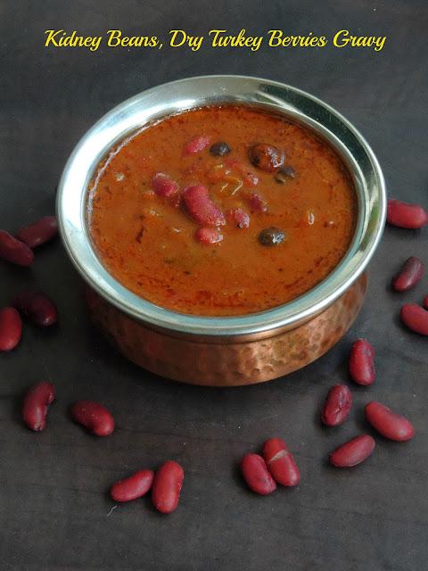 Kidney beans Kuzhambu, Rajma Vatha Kuzhambu